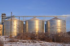 Silos Royalty Free Stock Image