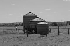 3 silos Fotografia de Stock