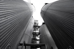Silos Royalty Free Stock Photography