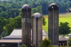 Silos agricoles de la Virginie Occidentale rurale image libre de droits