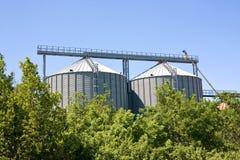 Silos agriculturais Fotografia de Stock