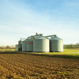Silos for agricultural products Royalty Free Stock Photos