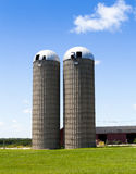 Silos on American Countryside Stock Images