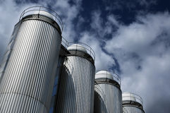 Silos for a beer. In Irelnad's finnest beer company Guinness Royalty Free Stock Images