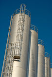 Silos and a blue sky Stock Images