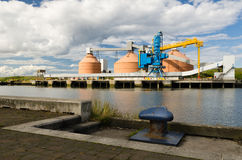 Silos at Blyth Quayside Royalty Free Stock Images