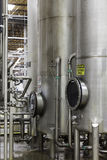 Silos in bottle industry Stock Photography