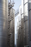 Silos in Cellino san mraco Stock Photography