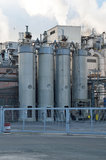 Silos from chemical plant Stock Photography