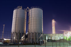 Silos and chimney Stock Photography