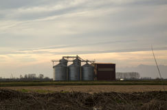 Silos in the country Royalty Free Stock Image