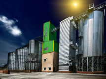 Silos de grain Photographie stock
