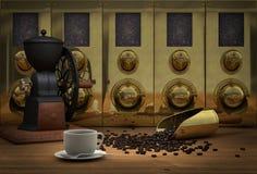 Silos de grain de café illustration de vecteur