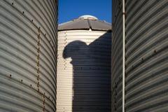 Silos de grano Foto de archivo libre de regalías