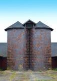 Silos de grano Foto de archivo