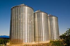 Silos de grano Imagen de archivo libre de regalías