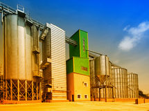 Silos de grano Imagen de archivo
