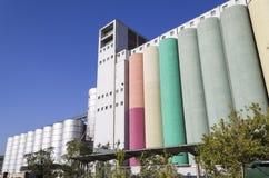 Silos del cereale Fotografie Stock Libere da Diritti