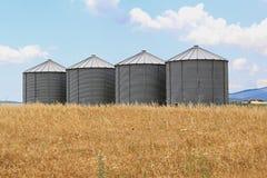 Silos del grano Immagini Stock Libere da Diritti