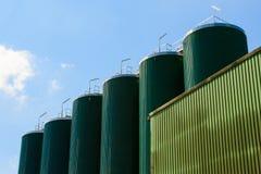 Silos della fabbrica di birra Immagini Stock Libere da Diritti