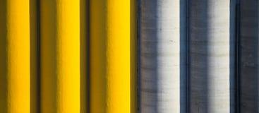 Silos di cemento colorato Fotografia Stock