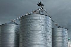 Silos di grano Fotografia Stock Libera da Diritti