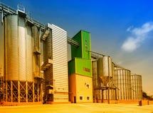 Silos di grano Immagine Stock