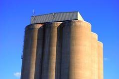 Silos di grano Fotografie Stock