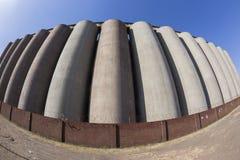 Silos di grano di agricoltura Fotografia Stock