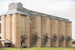 Silos di grano Grong Grong NSW Fotografia Stock