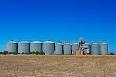 Silos di stoccaggio del grano Fotografie Stock Libere da Diritti