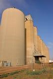 Silos di stoccaggio del grano Fotografia Stock Libera da Diritti