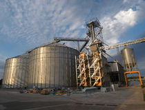 Silos and dryer Royalty Free Stock Image