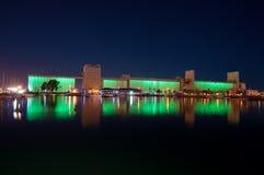 silos för show för qiuebec s för gammal port för korn ljusa Arkivfoton
