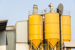 Silos Factory Royalty Free Stock Photography