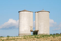 Silos farm Royalty Free Stock Images