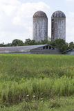 Silos and Farm Building Royalty Free Stock Images