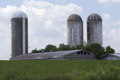Silos and Farm Building Royalty Free Stock Image