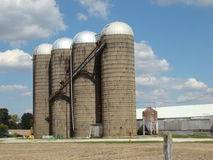 Silos on a farm Stock Photos