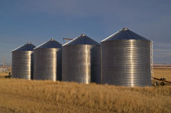Silos in a Field Stock Images