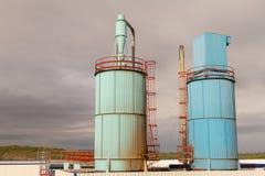 Silos industriais da exaustão Imagem de Stock Royalty Free