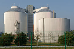 Silos of an industrial plant Royalty Free Stock Photography