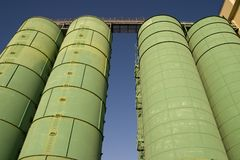 Silos Manchester de moulin Photos stock