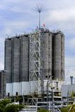 Silos at Oil Refinery Royalty Free Stock Photo