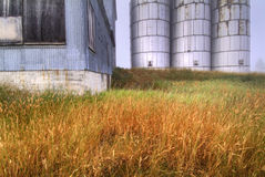 Silos and old building Stock Photography