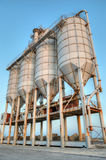 Silos, Port of Mazara del Vallo. Sicily, Italy stock image