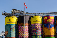Silos pour le ciment Photo libre de droits