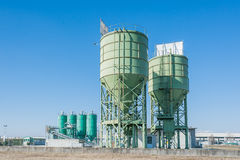 Silos for the production of cement Stock Images