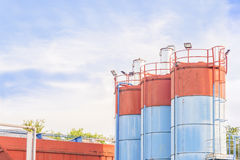 Silos for the production of cement Stock Image