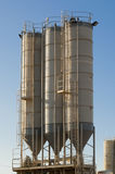 Silos of sand royalty free stock images